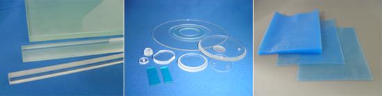 ■切断用ダミーガラス ■特殊モニターガラス・石英ガラス ■出荷用ビニル袋(静電防止)