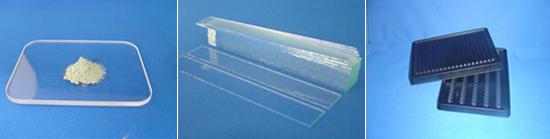 ■ダイヤモンドパウダー ■切断用ダミーガラス ■出荷用プラスチックトレー
